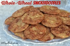 The cookies I took to my neighbor's cookie exchange were one of my favorites - Snickerdoodles! I used half whole-wheat flour and the outcome was delicious.