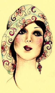 "https://flic.kr/p/5XUdfu | ""Flapper girl 1"" by Elisabete Nascimento | via Flickr."