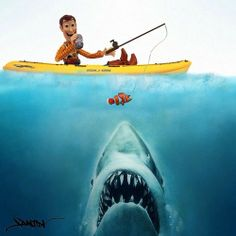 Jaws eats Nemo, then Woody.