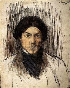 """Pablo Picasso - """"self-portrait"""", 1899"""
