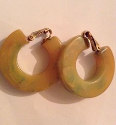 Vintage Lemon And Lime Chunky Bakelite Clip On by ChicCollective, £17.00