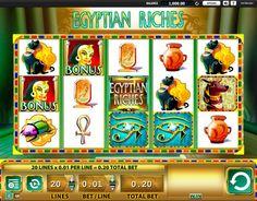 #WMS presentiert Egyptian Riches online Spielautomat, der bei Onlinecasinohex.de kostenlos verfügbar ist! Nutze die Chance und spiele frei für Spass!