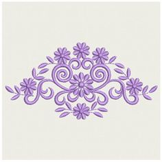 Delightful {Flowers  Cute Purple Flowers  000000701a PES.com} Embroidery Designs Home