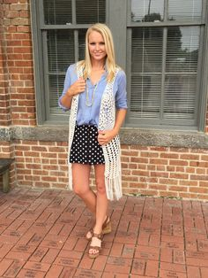 Change up your wardrobe with this cream color Crochet Vest!! PERFECT for just about ANY outfit