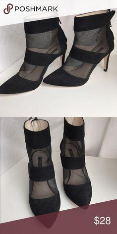 Zara black heels with mesh by zara, 3 inch heels - super cute! Zara Shoes Heels