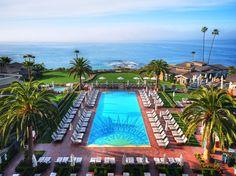 Montage: Laguna Beach, CA. Beautiful, perhaps the loveliest waterfront site in California