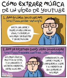 Cómo extraer música a un vídeo de YouTube. Néstor Alonso Vía Educ@conTic