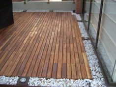 Piso de madera deck. Bogotá