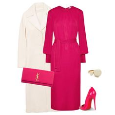 outfit 6831 by natalyag on Polyvore featuring Tome, Tory Burch, Christian Louboutin, Yves Saint Laurent and Kate Spade