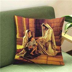 Cushion Decorative Pillows Christian Pattern Cushions Home Decor/Almofada/emoji pillow cojines decorativos