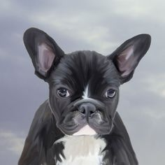#Cute #FrenchBulldog Water #Color #Art #Painting #watercolor #artist #dog #animal #pet #canvas