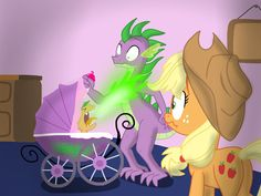 Daughter of Discord: Applespike's Burp Scene by Skyfaller3D on DeviantArt