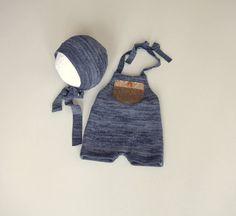 Newborn Photography Prop Clothing-Newborn Blue Halter by zoik