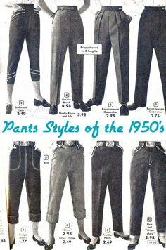 A Primer: 1930's-1950's Trousers & Pants For Women – Wearing History® Blog