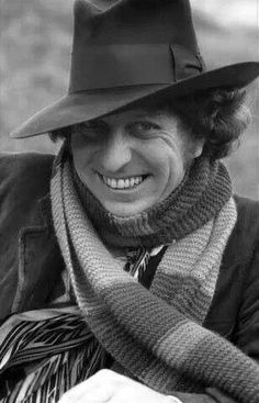 Iconic portrait of Tom Baker as The Doctor