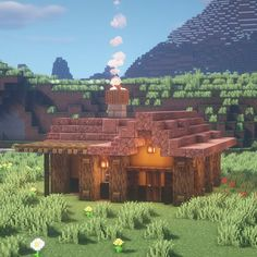 CraftingBench Minecraft on Instag Art Minecraft, Minecraft Building Guide, Minecraft Structures, Easy Minecraft Houses, Minecraft Medieval, Minecraft Plans, Amazing Minecraft, Minecraft Decorations, Minecraft House Designs