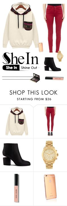 """""""Untitled #85"""" by sarah-tav ❤ liked on Polyvore featuring J Brand, Alexander Wang, Michael Kors, Bobbi Brown Cosmetics, Goldgenie and Kevyn Aucoin"""