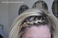 Front of hair french braid tutorial