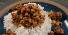 Déposez des morceaux de poulet et de la cassonade dans votre mijoteuse... - Recettes - Ma Fourchette Sauce Teriyaki, Crockpot, Chicken Recipes, Grains, Recipies, Food And Drink, Rice, Simple, Teriyaki Chicken