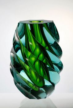 Moser Glass (Est in 1857 - still open today), Prague, Czech Republic. This piece may be contemporary, but it resembles Czech midcentury glass.