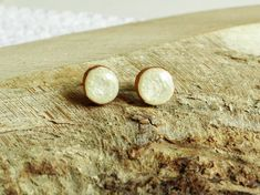 Wooden studs 10 mm surgical steel posts wood ear studs wood