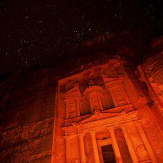 Petra by night. #Jordan #JO