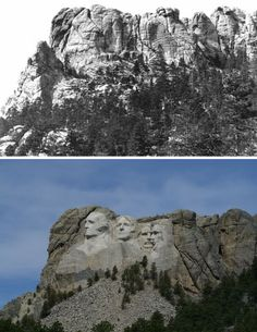 mount Rushmore before and after