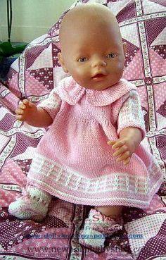 Baby Knitting Patterns Wunderschönes Puppenkleider...