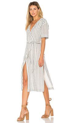 7a10a64393 Maddy Wrap Dress in Navy Stripe White Wrap Dress