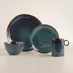 Our exclusive Indigo Organic Reactive Glaze Salad Plates might just as likely be found in a boutique ceramics shop for twice the price. Each stoneware plate is one of a kind, finished with a reactive glaze that shines beautifully on your table. Superb for entertaining or gift giving!