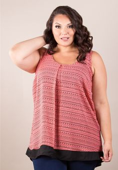 Cathy Chiffon Tank From The Plus Size Fashion Community At www.VintageAndCurvy.com