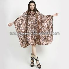 professional cheapest highest quality static resistant haidressing cutting cape , satin yellow animal salon cape
