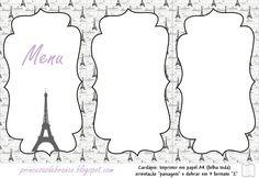 Princesas de Branco: Kit Festa Paris Lilás e Preto (15 anos, Casamento ou Festa…