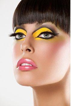 yellow eyeshadow :)