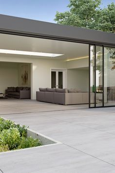 Burnham is a contemporary industrial plank with concrete undertones that adds a modern look to dining areas and kitchens, while the matching outdoor tiles create a hard-wearing and long-lasting patio Outdoor Tiles Floor, Outdoor Paving, Patio Tiles, Concrete Patio, Pool Paving, Outside Flooring, Outdoor Flooring, Back Garden Design, Backyard Garden Design