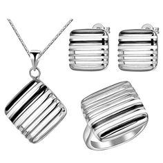 Virgin Shine Platinum Plated Black White Square Jewelry Sets VIRGIN SHINE http://www.amazon.co.uk/dp/B00L0HDH16/ref=cm_sw_r_pi_dp_xJSMub127VK5F