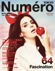 """Lana Del Rey for the new issue of  """"Tokyo Numero"""" magazine. (Photographed by Mariano Vivanco).(cover)"""