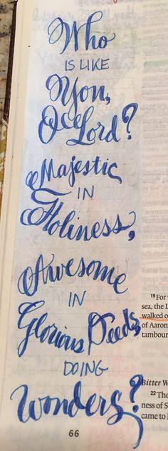 Bible Journaling; Psalms