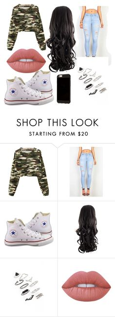 """""""Untitled #7"""" by infinitiblx7 ❤ liked on Polyvore featuring Converse, Topshop and Lime Crime"""