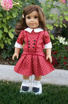 American Girl 1914 School Dress by RuthielovestoSew on Etsy, $34.00
