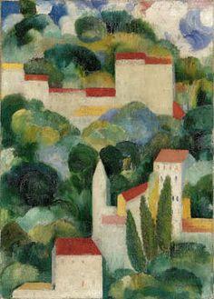 Amadeo de Souza-Cardoso  Título desconhecido (Bellevue), 1911