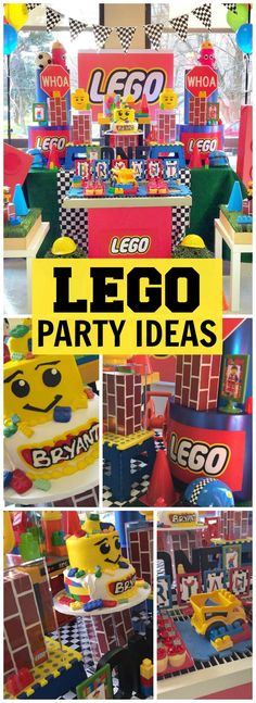 This colorful Lego birthday party is for a one year old! See more party ideas at CatchMyParty.com!