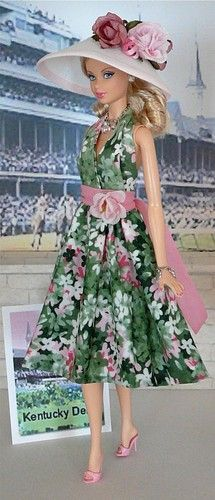 Kentucky Derby  by Donna's Doll Designs - cute! No matter how old I get I will still love Barbie!!