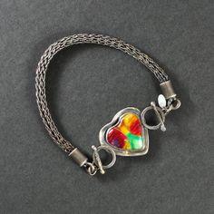 Cloisonne Enamel Reversible Heart Bracelet by 'MichellesEnamels'(was 'SMBStudio') ETSY $450.00 <3<3<3