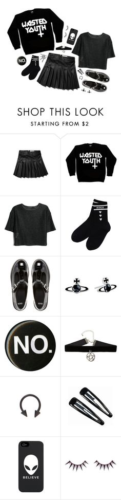 """049 - we won't so just don't"" by aphorisms ❤ liked on Polyvore featuring Abercrombie & Fitch, Killstar, MANGO, ASOS, Vivienne Westwood, Clips and Viva La Diva"