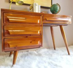 Price Reduced...Sale....Vintage 1950's Franklin Shockey Mid Century Modern Desk on Etsy, $599.00