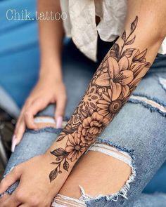 tattoos for women ~ tattoos ; tattoos for women ; tattoos for women small ; tattoos for moms with kids ; tattoos for guys ; tattoos for women meaningful ; tattoos for daughters ; tattoos with kids names Best Sleeve Tattoos, Body Art Tattoos, Small Tattoos, Cool Tattoos, Half Sleeve Tattoos For Women, Women Sleeve, Tatoos, Arm Tattoos For Women Forearm, Flower Sleeve Tattoos