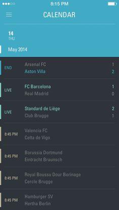 Calendar#App #UI #design #calendar #mobile