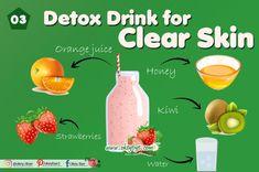 5 Best Detox Drinks for Clear Skin 2020 – Okey Bye Detox Water For Clear Skin, Detox To Lose Weight, Kiwi Juice, Avocado Face Mask, Face Health, Best Detox, Moisturizer For Dry Skin, Skin Problems, Detox Drinks