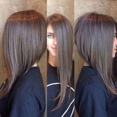 Классическое каре с удлинением - сочетание длинных и коротких волос